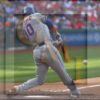 New York Mets right fielder Michael Conforto hits an RBI double