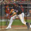 Washington Nationals right fielder Adam Eaton singles