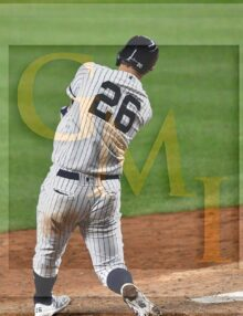 New York Yankees first baseman DJ LeMahieu doubles