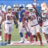 Arizona Cardinals linebacker Chandler Jones celebrates fumble recovery