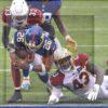 Giants star running back Saquon Barkley scores a touchdown