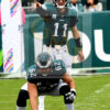 Philadelphia Eagles quarterback Carson Wentz points downfield
