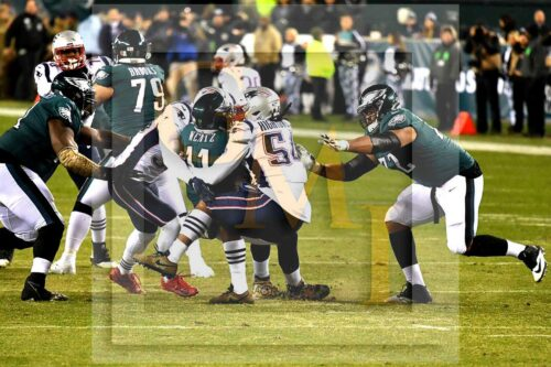 Eagles quarterback Carson Wentz is sacked by Patriots Dont'a Hightower
