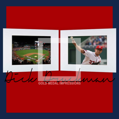 Special, Commemorative, Signed Set of Matted Photos for the First World Series Played in Washington DC in 86 Years!