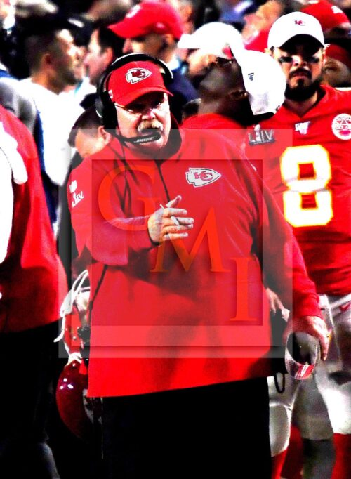 Chiefs head coach ANDY REID directs his team