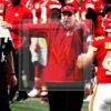 Chiefs head coach Andy Reid shows his excitement