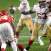 49ers quarterback Jimmy Garoppolo looks downfield